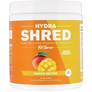Sparta Nutrition, Hydra Shred, Premium Ultra Strength Lipolytic Fat Burner, Mango Nectar, 9.52 oz (270 g)