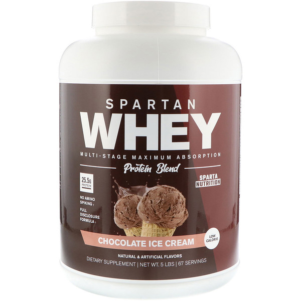 Sparta Nutrition, Spartan Whey, Chocolate Ice Cream, 5 lbs (Discontinued Item)