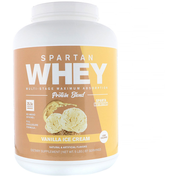 Sparta Nutrition, Spartan Whey, Vanilla Ice Cream, 5 lb (Discontinued Item)