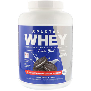 Sparta Nutrition, Spartan Whey, Double Stuffed Cookies & Cream, 5 lbs