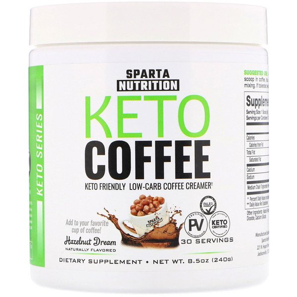 Sparta Nutrition, Keto Series, Keto Coffee, Hazelnut Dream, 8.5 oz (240 g) (Discontinued Item)