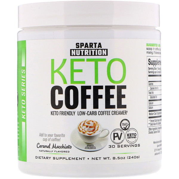 Sparta Nutrition, Keto Coffee, Caramel Macchiato, 8.5 oz (240 g) (Discontinued Item)