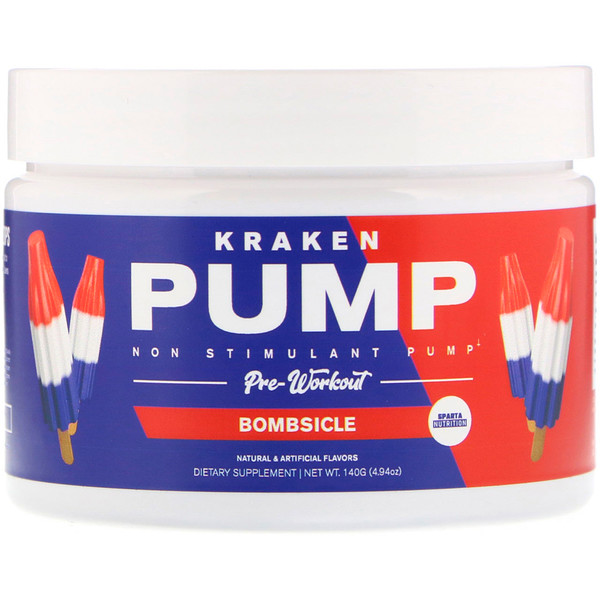 Sparta Nutrition, Kraken Pump, Non-Stimulant Pre-Workout, Bombsicle, 4.94 oz (140 g)