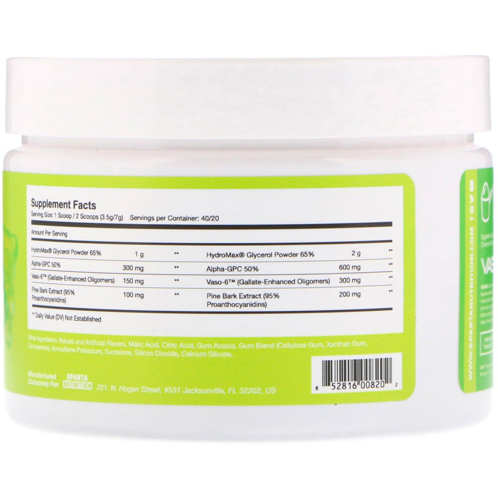 Sparta Nutrition, Kraken Pump, Non-Stimulant Pre-Workout, Sour Gummy