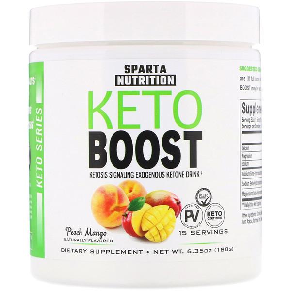 Sparta Nutrition, سلسلة كيتو، Keto Boost، بالخوخ والمانجو، 6.35 أوقية (180 جم) (Discontinued Item)