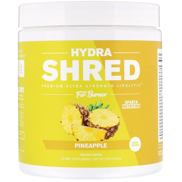 Sparta Nutrition, Hydra Shred, סופר אולטרה כוח Lipolytic צורב שומן, אננס, 270 גרם (Discontinued Item)