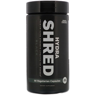Sparta Nutrition, Hydra Shred Black, Premium Ultra Strength Lipolytic Fat Burner, 90 Vegetarian Capsules