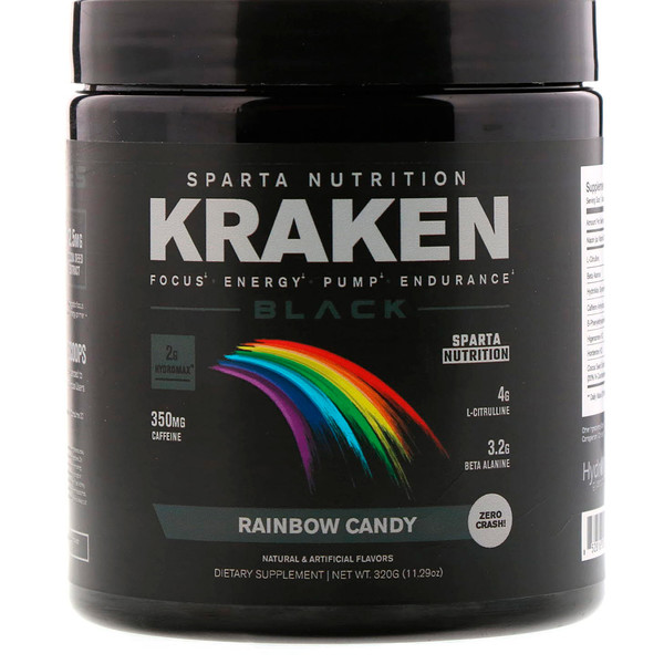 Sparta Nutrition, Kraken Black, Rainbow Candy, 11.29 oz (320 g) (Discontinued Item)