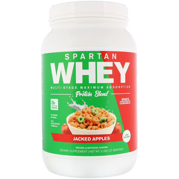 Sparta Nutrition, Spartan Whey, Jacked Apples, 2  lbs (Discontinued Item)