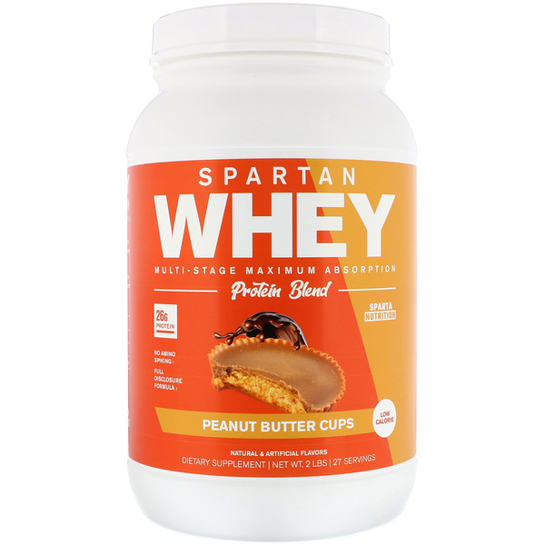Sparta Nutrition, Spartan Whey, Peanut Butter Cups, 2  lbs (Discontinued Item)