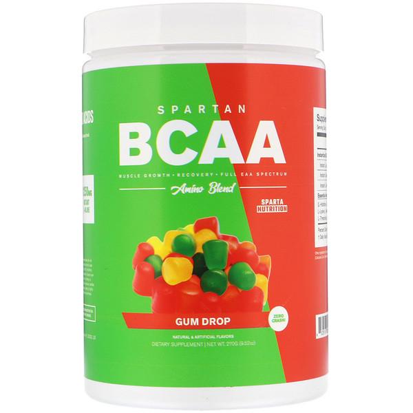 Sparta Nutrition, スパルタン BCAA、アミノブレンド、ガムドロップ、9.52 oz (270 g) (Discontinued Item)