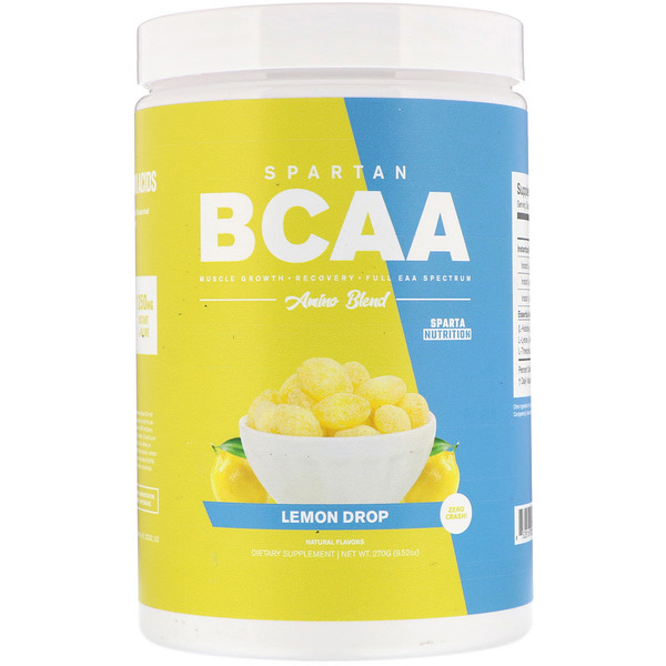 Sparta Nutrition, Spartan BCAA, Amino Blend, Lemon Drop, 9.52 oz (270 g) (Discontinued Item)