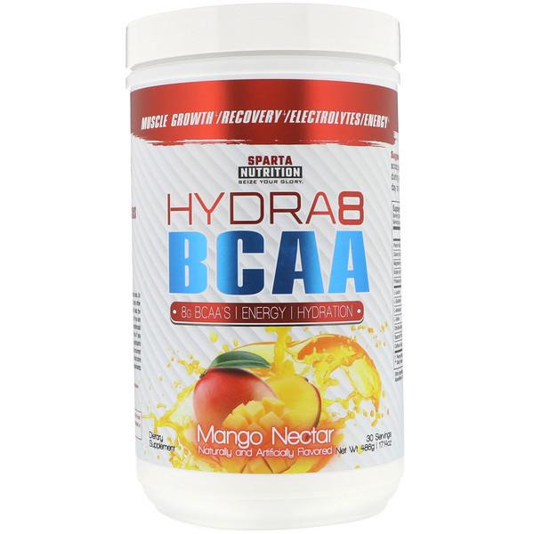 Sparta Nutrition, Hydra8 BCAA, Mango Nectar, 17.14 oz (486 g) (Discontinued Item)