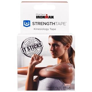 Strengthtape, Kinesiology Tape, Beige, 20 Precut Strips