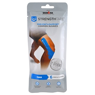 Strengthtape, Kinesiology Athletic Tape, Knee, 6 Precut Strips