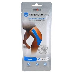 Стрэнгттэйп, Kinesiology Athletic Tape, Knee, 6 Precut Strips отзывы покупателей