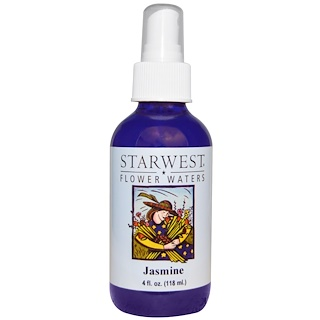 Starwest Botanicals, Flower Waters, Jasmine, 4 fl oz (118 ml)