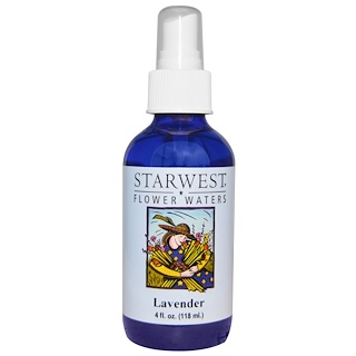 Starwest Botanicals, フラワーウォーター、ラベンダー、4 fl oz (118 ml)