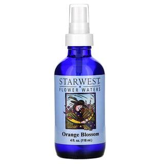 Starwest Botanicals, ماء الزهور، زهرة البرتقال، 4 أونصة سائلة (118 مل)