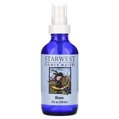 Starwest Botanicals, 花水,玫瑰,4 液量盎司(118 毫升)