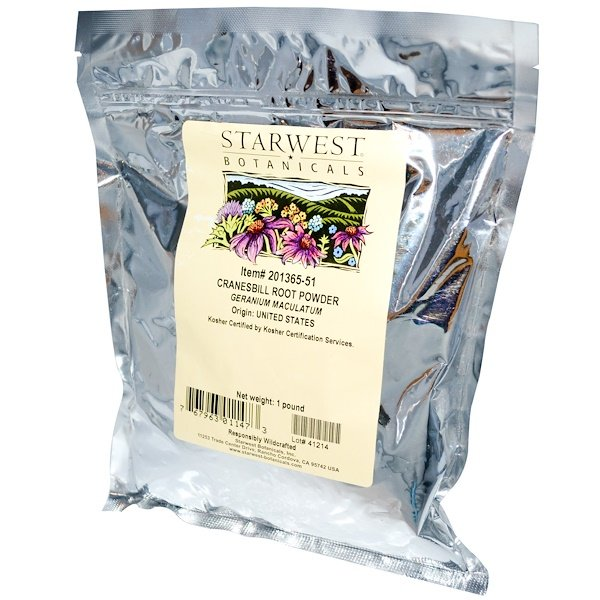 Starwest Botanicals, Cranesbill Root Powder, 1 lb (Discontinued Item)