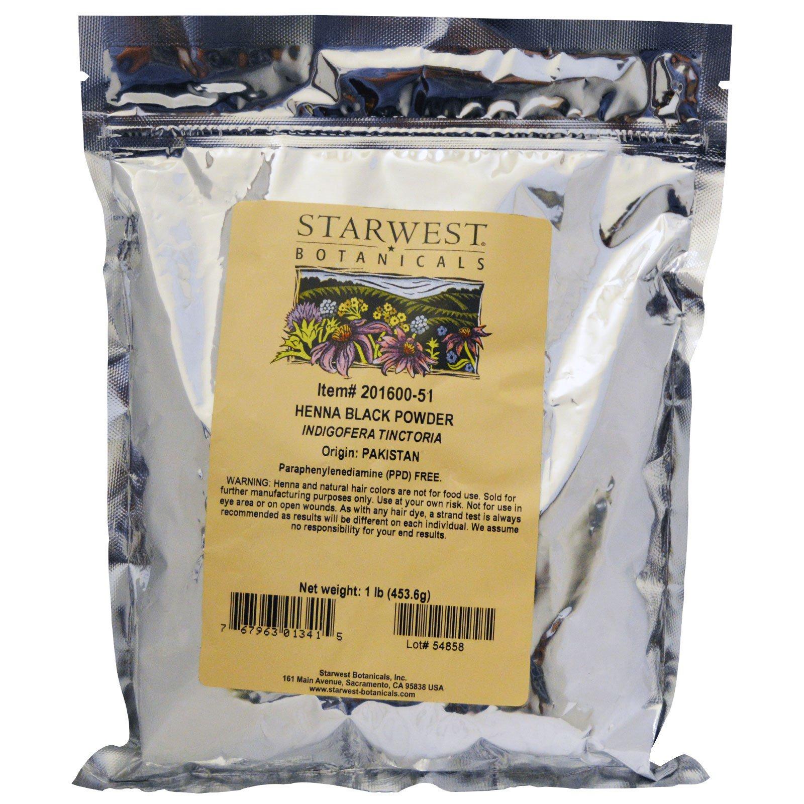 Starwest Botanicals, Порошок из черной хны, 1 фунт
