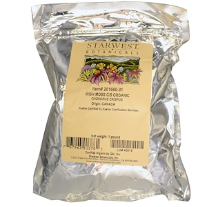 Старвест Ботаникалс, Organic Irish Moss Cut & Sifted, 16 oz (1 lb) отзывы