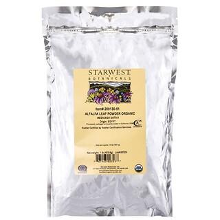 Starwest Botanicals, Alfalfa Leaf Powder, Organic, 1 lb (453.6 g)