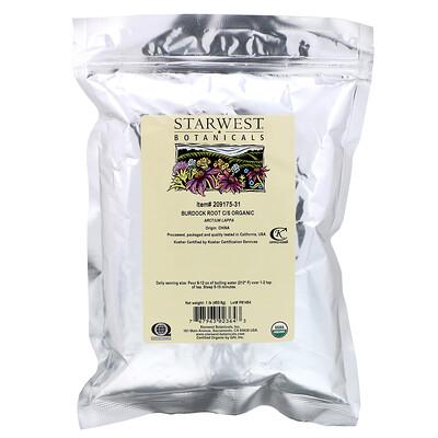 Starwest Botanicals Органический корень лопуха C/S корень, 453,6 г (1 фунт)