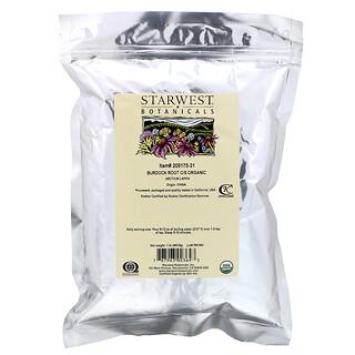 Starwest Botanicals, C/S Organic Burdock Root, 1 lb (453.6 g)