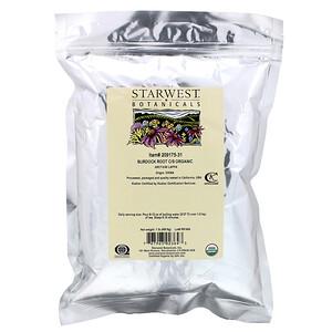 Старвест Ботаникалс, C/S Organic Burdock Root, 1 lb (453.6 g) отзывы покупателей