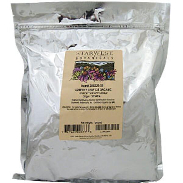 Starwest Botanicals, Comfrey Leaf, Organic, 1 lb (Discontinued Item)