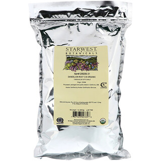 Starwest Botanicals, Orgânico, Raiz de Dente-de-leão C/S, 1 lb (453,6 g)