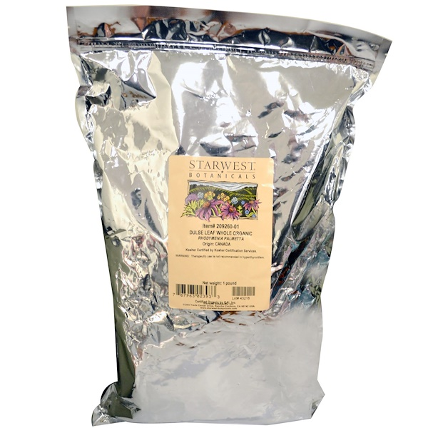Starwest Botanicals, Organic Whole Dulse Leaf, 1 lb (Discontinued Item)
