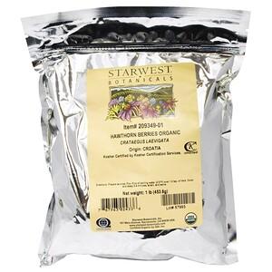 Старвест Ботаникалс, Organic, Hawthorn Berries, 1 lb (453.6 g) отзывы покупателей