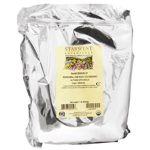 Старвест Ботаникалс, Organic Marshmallow Root C/S, 1 lb (453.6 g) отзывы покупателей