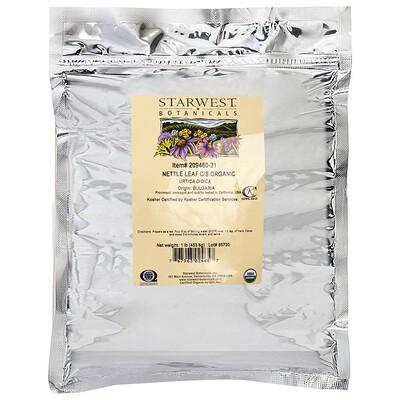 Starwest Botanicals Лист крапивы, измельченный и просеянный, натуральный, 1 фунт