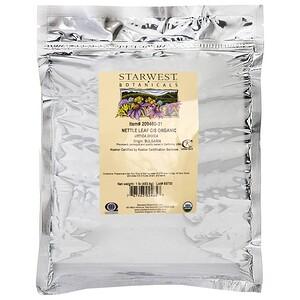 Старвест Ботаникалс, Nettle Leaf C/S, Organic, 1 lb (453.6 g) отзывы