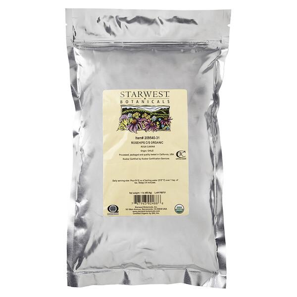 Rosehips C/S Organic, 1 lb (453.6 g)