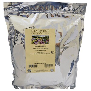 Старвест Ботаникалс, Organic, Basil Leaf C/S , 1 lb (453.6 g) отзывы
