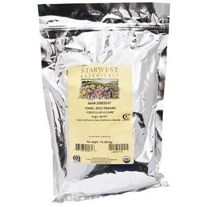 Старвест Ботаникалс, Organic, Fennel Seed , 1 lb (453.6 g) отзывы