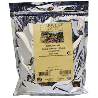 Starwest Botanicals, Organic Garlic Granules, 1 lb (453.6 g)