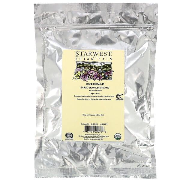 Garlic Granules, Organic, 1 lb (453.6 g)