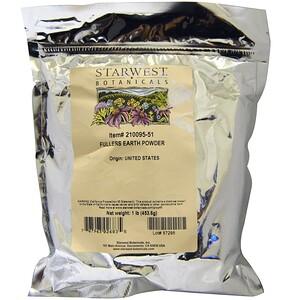 Старвест Ботаникалс, Fullers Earth Powder, 1 lb (453.6 g) отзывы покупателей