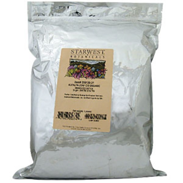 Starwest Botanicals, Alfalfa Leaf, Organic, 1 lb (Discontinued Item)