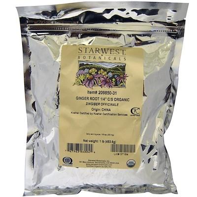Купить Starwest Botanicals Корень имбиря, 1/4 , измельченный и просеянный, органический, 1 фунт (453, 6 г)