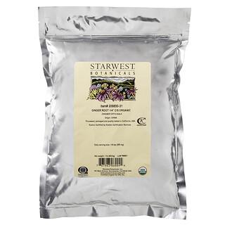 "Starwest Botanicals, Raíz de Gengibrec1/4"" C/S, Orgánico, 1 lb (453.6 g)"