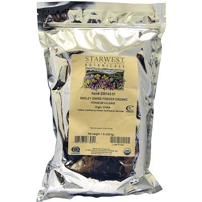 Порошок из ячменя, Органика, 1 фунт  - купить со скидкой
