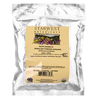 Starwest Botanicals, Spirulina Powder, Organic, 1 lb (453.6 g)