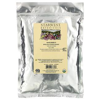 Starwest Botanicals, Spirulina Powder Organic, 1 lb (453.6 g)